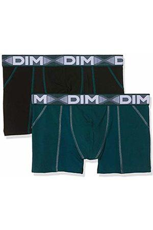 Dim Sous-vêtements Homme Men's 3D Flex Air Boxer X2 Shorts, (Vert Pacific/Noir 8nv)