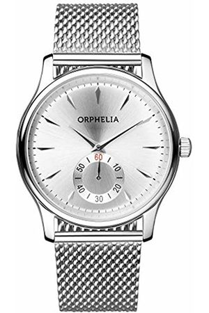 ORPHELIA Men's Quartz Watch with Black Dial Analogue Display and Stainless Steel OR53771188