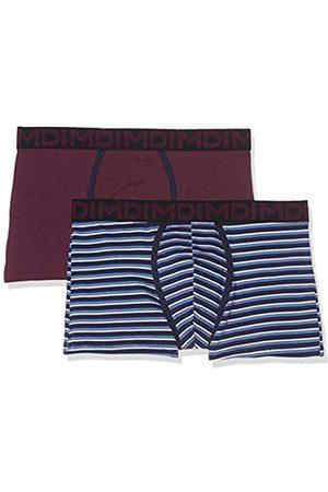 Dim Men's Mix and Fancy Boxer X2 Shorts, Multicolore (Imprimé Rayé/Mauve Vigne 8o8)
