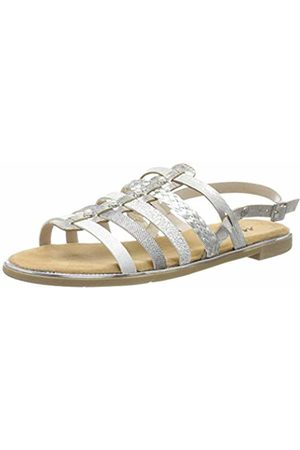 Mustang Women's 1308-801-21 Gladiator Sandals, Silber 21