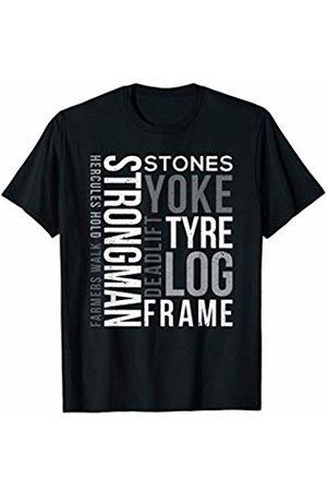 Powerlifting Weightlifting Gym T Shirt Strongman Deadlift Tyre Log Yoke Stones Farmers Walk Gym T-Shirt
