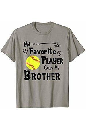 Baseball Softball Sports Fan Designs Co. Softball My Favorite Player Calls Me Brother Sports Fan T-Shirt