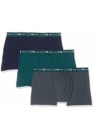Dim Men's Coton Stretch Boxer X3 Shorts, Multicolore (Vert Pacific/Granit/Denim 8nc)