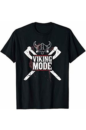 Powerlifting Weightlifting Gym T Shirt Viking Mode Strongman Weightlifting Powerlifting Gym T-Shirt