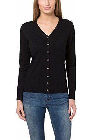 Berydale Women's sweater with button strip (Schwarz)