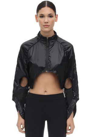A-cold-wall* Cut Out Nylon Cropped Jacket
