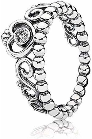 Pandora Coeur Pearl Cubic Zirconia Silver Ring - 190880CZ-58 - Size 58 (18.5)