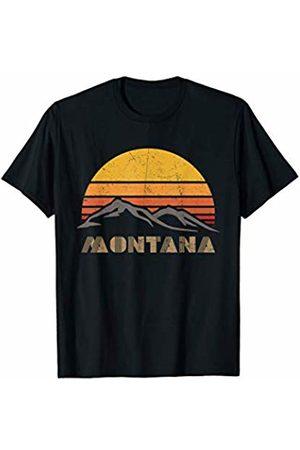 Mountaineering Novelty Gifts Mountain Shirt - Retro Mountain MONTANA - Outdoor Shirt T-Shirt