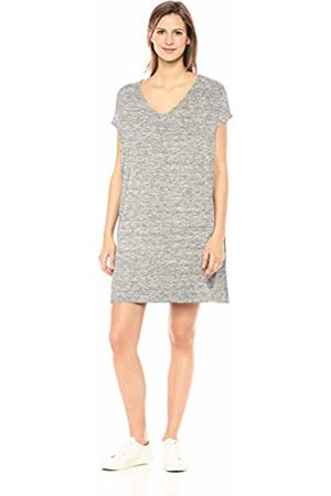 Daily Ritual Women Casual Dresses - Women's Supersoft Terry Dolman-Sleeve V-Neck Dress