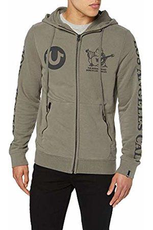 True Religion Men Jackets - Men's Hooded Zip JKT Dusty Olive Sports Jacket, 3501