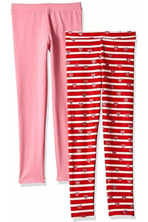 LOOK by crewcuts 2-Pack Leggings Stripe Hearts/