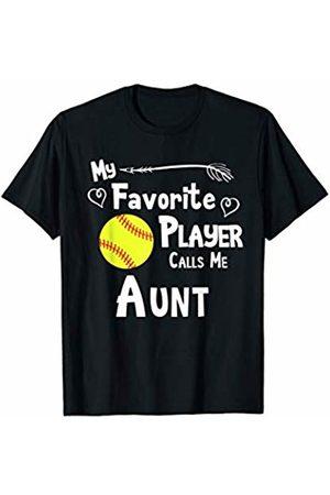 Baseball Softball Sports Fan Designs Co. Softball My Favorite Player Calls Me Aunt Sports Fan T-Shirt