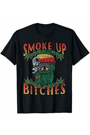 Tee Styley Marijuana 420 Smoke Up Bitches Weed Cannabis Funny Quotes T-Shirt