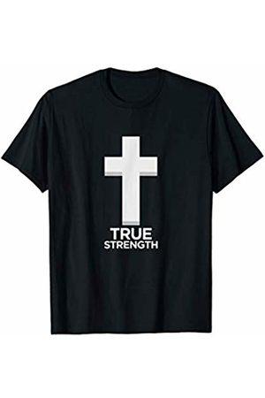 Christian Cross Workout Wear True Strength Workout Christian Cross T-Shirt