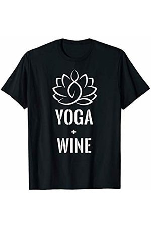 Love Yoga - International Yoga Day Workout T-Shirt Love Yoga And Wine Funny Gym Exercise Fitness Gift T-Shirt