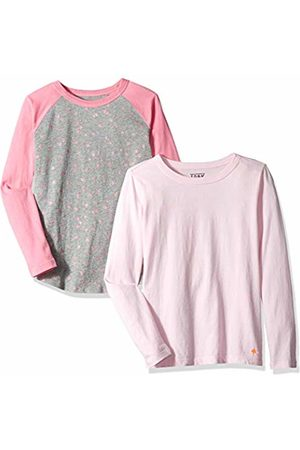 LOOK by crewcuts Boys' 2-Pack Graphic/Solid Long Sleeve T-Shirt Star/
