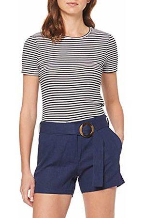 Dorothy Perkins Women's Linen Ring Buckle Shorts (Will BE Plain Navy), 200