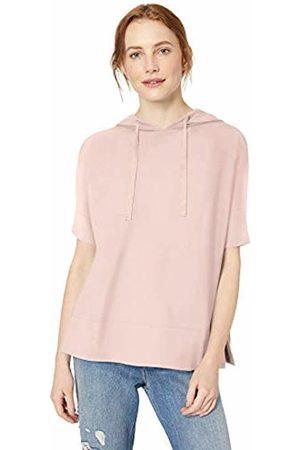 Daily Ritual Women's Cozy Knit Hooded Short-Sleeve Shirt
