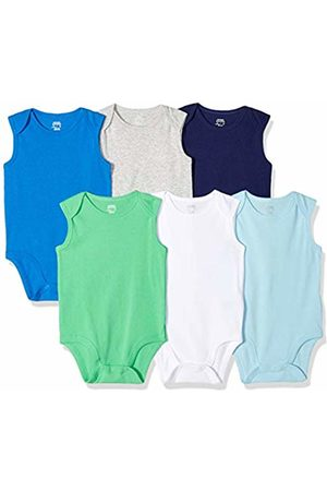 Amazon Essentials Baby Rompers - 6-Pack Sleeveless Bodysuits Layette Set