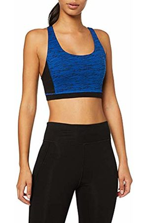 Peopletree Women's Orgnaic Yoga Abstract Cross Back Crop top ( Blx)