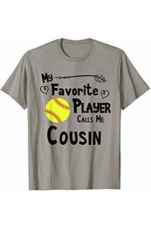 Baseball Softball Sports Fan Designs Co. Softball My Favorite Player Calls Me Cousin Sports Fan T-Shirt