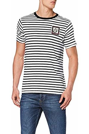Scotch&Soda Men's Brutus AMS Blauw Colab Tee with Small Chest Artwork T-Shirt
