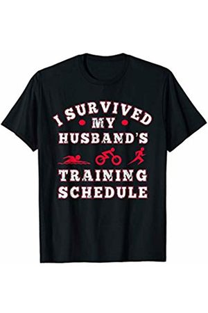 Triathlete Wife I Survived my Husbands Triathlon Training Schedule T-Shirt