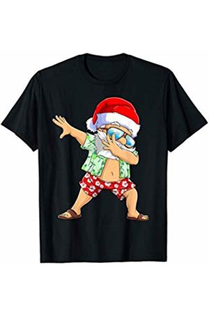 d5639f528 Dabbing Santa Funny Christmas in July Kids Hawaiian Xmas T-Shirt