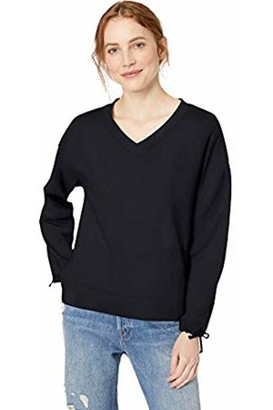 Daily Ritual Women's Terry Cotton and Modal Tie Sleeve V-Neck Sweatshirt