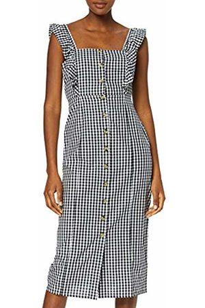 warehouse Women's Frill Detail Gingham Midi Dress, ( Print 76)