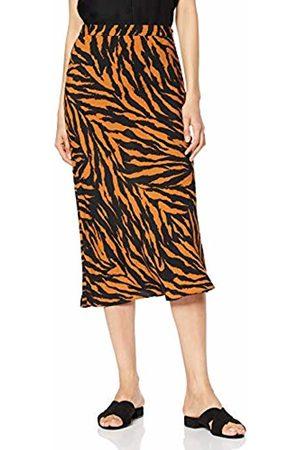 warehouse Women's Tiger Print Bias Cut Skirt