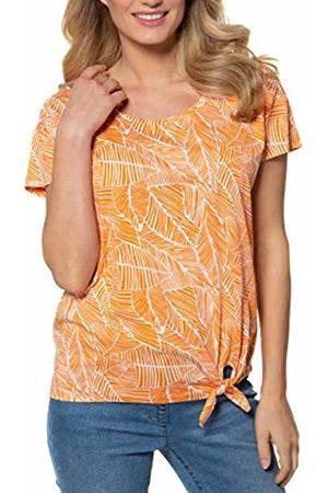 GINA LAURA Women's Shirt Relaxed, Blätterprint T