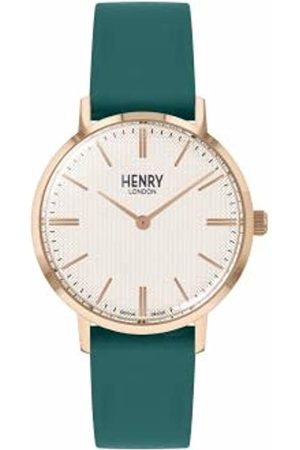 Henry London Unisex Adult Analogue Classic Quartz Watch with Leather Strap HL34-S-0408