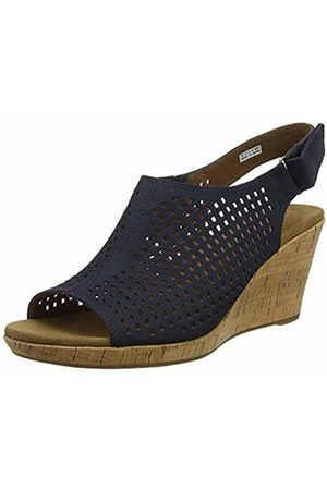 Rockport Women's Briah Perforated Sling Back Platform Sandals