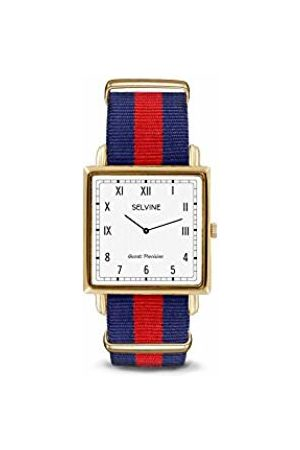 Selvine Unisex-Adult Analogue Classic Quartz Watch with Nylon Strap SPRE5