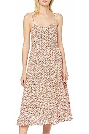 New Look Women's F Claudia Floral Bttn Tier Mid (6147746) Dress