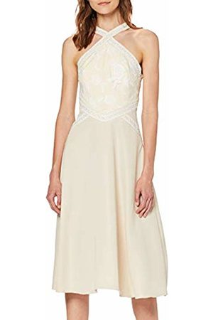 Little Mistress Women's Ellis Buttercup Embroidered Midi Dress Party, 001
