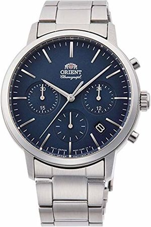 Orient Mens Chronograph Quartz Watch with Stainless Steel Strap RA-KV0301L10B