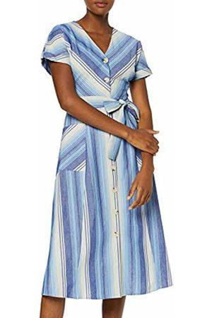 warehouse Women's Chevron Stripe Button Through Dress, ( 33)