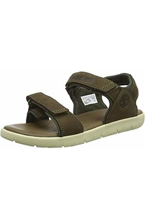 Timberland Unisex Kid's Nubble Leather 2 Strap Open Toe Sandals