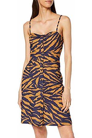 warehouse Women's Feline Fine Strappy Tie Back Pique Button Through Dress