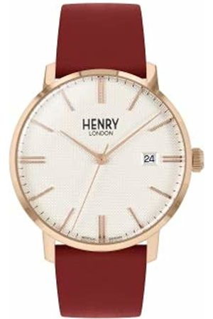 Henry Unisex Adult Analogue Classic Quartz Watch with Leather Strap HL40-S-0402