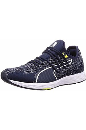 Puma Unisex Adults' Speed 300 Racer Competition Running Shoes, (Peacoat -Blazing )