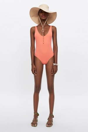 Zara Women Swimsuits - Buttoned swimsuit