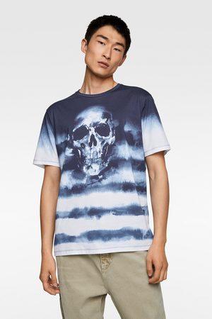 Zara Men Ties - Tie-dye skull t-shirt