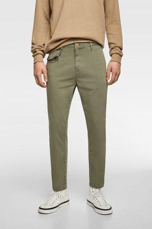 Zara New cropped chino trousers