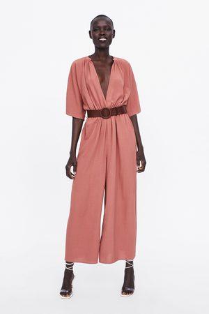 Zara Wrap jumpsuit with belt