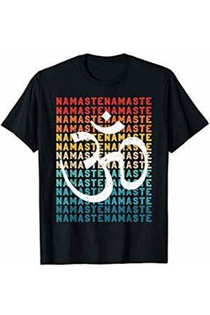 Panic Yoga Day Family Gift Vintage Namaste Meditate Om Peace Zen Yoga Day Men Women T-Shirt