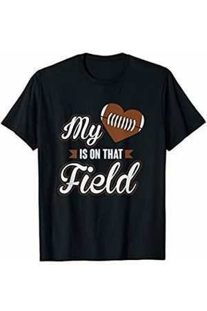 Football Parent Teez My Heart Is On That Field Proud Football Parent T-Shirt