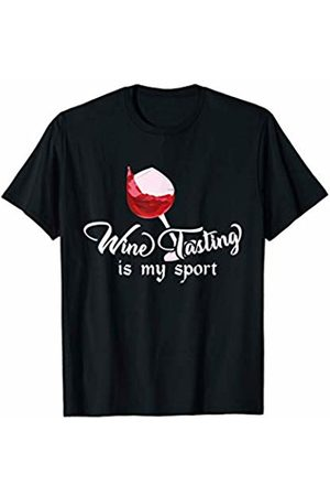 InGENIUS Wine Tasting Shirts Wine Tasting is My Sport T-Shirt - Funny Wine Lover Tee